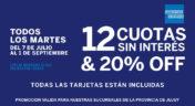 20% Off + 12 Cuotas Sin Interés