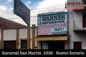 la sucursal de Avda. San Martín 1018, Ciudad de Salta, modifica su horario de atención